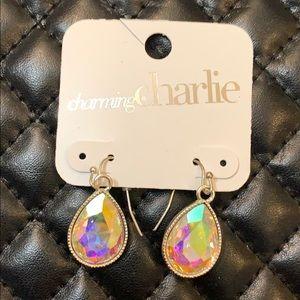🆕Charming Charlie AB Crystal Stone Drop Earrings